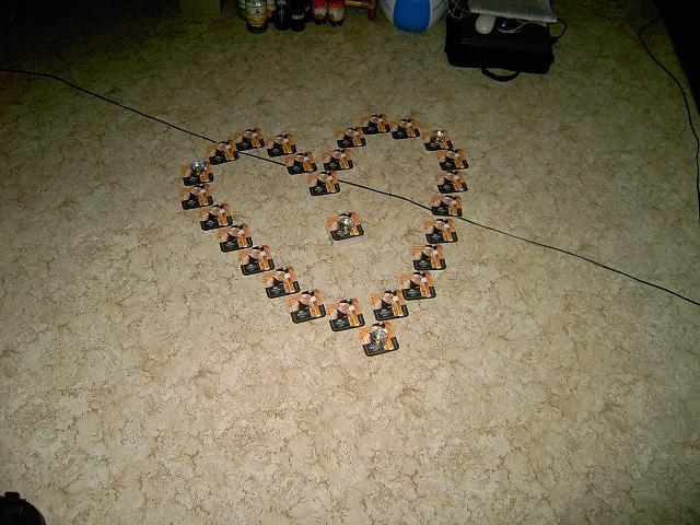 Bierdeckel-Herz